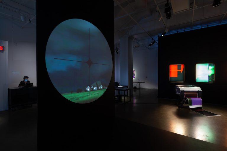 ÉCRAN TOTAL / TOTAL SCREEN, exhibition, UQAM Centre de design, 2021. Photograph © Michel Brunelle